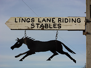 Stables signpost